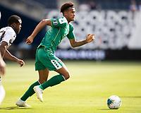 KANSAS CITY, KS - JUNE 26: Elliot Bonds #4 during a game between Guyana and Trinidad