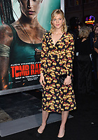 Georgia King at the US premiere for &quot;Tomb Raider&quot; at the TCL Chinese Theatre, Los Angeles, USA 12 March 2018<br /> Picture: Paul Smith/Featureflash/SilverHub 0208 004 5359 sales@silverhubmedia.com