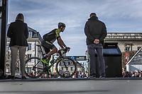 Jack Bauer (NZL/Scott Mitchelton) at sign-on. <br /> <br /> <br /> 116th Paris-Roubaix (1.UWT)<br /> 1 Day Race. Compiègne - Roubaix (257km)