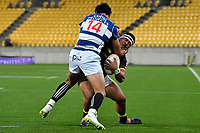 Wellington&rsquo;s Asafo Aumua and Auckland&rsquo;s Melani Nanai in action during the Mitre 10 Cup - Wellington v Auckland at Westpac Stadium, Wellington, New Zealand on Thursday 4 October 2018. <br /> Photo by Masanori Udagawa. <br /> www.photowellington.photoshelter.com