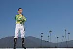 SANTA ANITA, CA- MARCH 31:  Aaron Gryder poses for a portrait during the Jockey's II Portrait Shoot at the Santa Anita Race Track on March 31, 2009 in Santa Anita, California. (Photo by Donald Miralle for Discovery Communications)