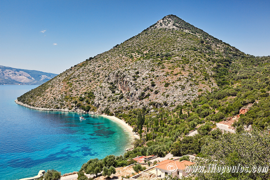 Pisaetos beach in Ithaki island, Greece