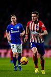Saul Niguez Esclapez of Atletico de Madrid in action during the La Liga 2018-19 match between Atletico de Madrid and Athletic de Bilbao at Wanda Metropolitano, on November 10 2018 in Madrid, Spain. Photo by Diego Gouto / Power Sport Images