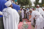 Israel, Jerusalem. Israel, Jerusalem. Collecting donation at the Jewish Ethiopian annual Sigd festival, November 2004<br />