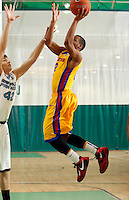 April 10, 2011 - Hampton, VA. USA;  Jordon Woodard participates in the 2011 Elite Youth Basketball League at the Boo Williams Sports Complex. Photo/Andrew Shurtleff