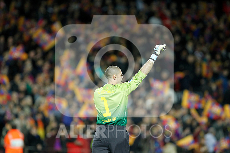 FC Barcelona's Victor Valdes during La Liga match.December 16,2012. (ALTERPHOTOS/Acero)