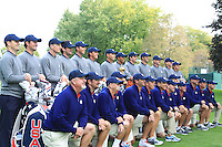Players and caddies at the USA Team photo shoot during Monday's Practice Day of the 39th Ryder Cup at Medinah Country Club, Chicago, Illinois 25th September 2012 (Photo Eoin Clarke/www.golffile.ie)
