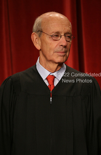 Washington, DC - September 29, 2009 -- Associate Justice of the United States Supreme Court Stephen G. Breyer poses for a photo during a photo-op at the U.S. Supreme Court in Washington, D.C. on Tuesday, September 29, 2009..Credit: Gary Fabiano / Pool via CNP