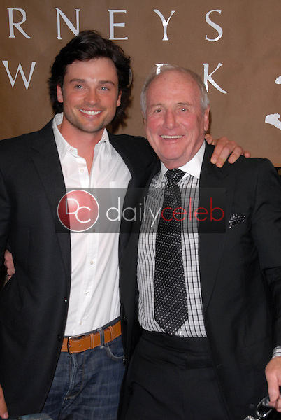 """Tom Welling and Jerry Weintraub<br /> at a celebration of Jerry Weintraub's New Book """"When I Stop Talking You'll Know I'm Dead,"""" Barney's New  York, Beverly Hills, CA. 05-18-10<br /> David Edwards/Dailyceleb.com 818-249-4998"""