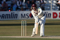 Jamie Overton in batting action for Somerset during Essex CCC vs Somerset CCC, Specsavers County Championship Division 1 Cricket at The Cloudfm County Ground on 27th June 2018