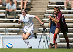 North Carolina's Heather O'Reilly (20) outraces Virginia Tech's Erin Moore (r) on Sunday, October 15th, 2006 at Fetzer Field in Chapel Hill, North Carolina. The University of North Carolina Tarheels defeated the Virginia Tech Hokies 1-0 in an Atlantic Coast Conference NCAA Division I Women's Soccer game.