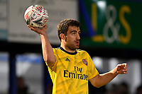Sokratis Papastathopoulos of Arsenal during Portsmouth vs Arsenal, Emirates FA Cup Football at Fratton Park on 2nd March 2020
