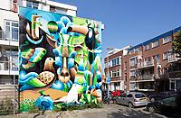 Nederland  Rotterdam -  2017. Graffiti in Delfshaven.   Foto Berlinda van Dam / Hollandse Hoogte