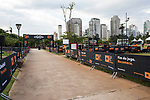 Runners compete during the Bloomberg Square Mile Relay race in Parque do Povo on 23 August 2018, in Sao Paulo, Brazil. Photo by Leonardo Benassatto / Power Sport Images