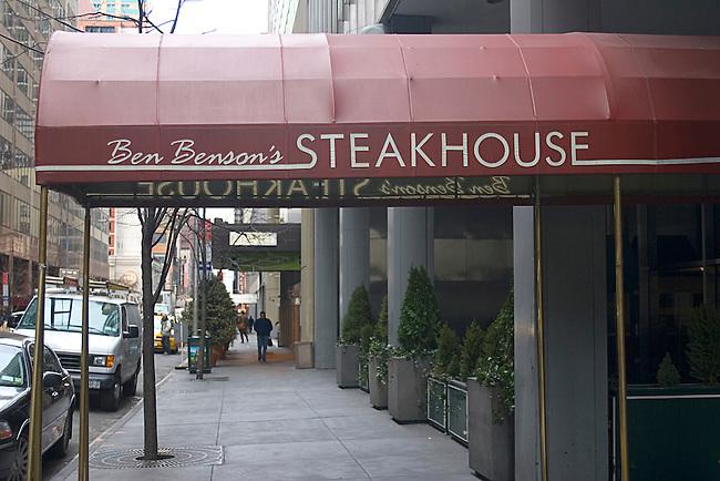 Ben Benson's Steakhouse, Restaurant, New York, New York