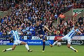 30th September 2017, The John Smiths Stadium, Huddersfield, England; EPL Premier League football, Huddersfield Town versus Tottenham Hotspur; Eric Dier of Tottenham Hotspur FC has a shot on goal but it was saved