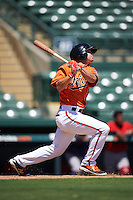 Baltimore Orioles Cole Billingsley (91) during an Instructional League game against the Boston Red Sox on September 22, 2016 at the Ed Smith Stadium in Sarasota, Florida.  (Mike Janes/Four Seam Images)