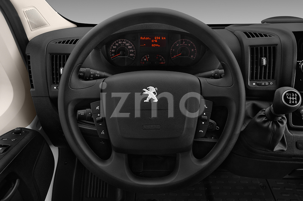 Car pictures of steering wheel view of a 2018 Peugeot Boxer Active 4 Door Combi