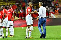 Leonardo Jardim (Entraineur AS Monaco) - Kylian Mbappe (AS Monaco)<br /> 04-08-2017 <br /> Monaco - Toulouse <br /> Calcio Ligue 1 2017/2018 <br /> Foto Scanella/ Panoramic/Insidefoto