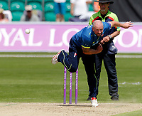 Darren Stevens bowls for Kent during the Royal London One Day Cup game between Kent and Gloucestershire at the County Ground, Beckenham, on June 3, 2018