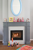 The fireplace becomes even more of a focal point in the living room during the feast of 'Sinterklass', which involves the children leaving their shoes, filled with carrots for Sinterklass's horse to eat, and to fill with presents