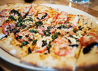 Pizza for lunch at Breckenridge, Colorado, Wednesday March 21, 2012...Photo by Matt Nager