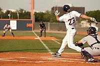 SAN ANTONIO, TX - APRIL 15, 2011: The Northwestern State University Demons vs. the University of Texas at San Antonio Roadrunners Baseball at Roadrunner Field. (Photo by Jeff Huehn)