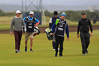 Justin Rose (ENG) and Alex Noren (SWE) on the 16th during Round 4 of the Alfred Dunhill Links Championship 2019 at St. Andrews Golf CLub, Fife, Scotland. 29/09/2019.<br /> Picture Thos Caffrey / Golffile.ie<br /> <br /> All photo usage must carry mandatory copyright credit (© Golffile | Thos Caffrey)