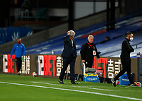 29th June 2020; Selhurst Park, London, England; English Premier League Football, Crystal Palace versus Burnley Football Club; Crystal Palace Manager Roy Hodgson scratching his head in disappointment