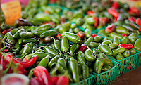 An assortment of peppers on display near Fredericksburg, Texas, Friday, July 24, 2009. (Darren Abate/pressphotointl.com)