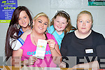 Philomena, Jessie, Katelyn and Anita Quilligan from the Travellor Community health work group at the Mental Health Wellness open day in the Killarney Sports Centre on Sunday ..