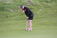 Lucy Jones (WAL) on the 8th green during Round 3 of the Irish Women's Open Stroke Play Championship 2018 on Sunday 13th May 2018.<br /> Picture:  Thos Caffrey / Golffile<br /> <br /> All photo usage must carry mandatory copyright credit (&copy; Golffile | Thos Caffrey)