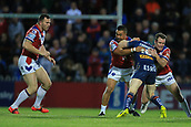 7th September 2017, Beaumont Legal Stadium, Wakefield, England; Betfred Super League, Super 8s; Wakefield Trinity versus St Helens; Luke Thompson of St Helens drives through