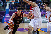 5th September 2017, Fenerbahce Arena, Istanbul, Turkey; FIBA Eurobasket Group D; Turkey versus Belgium; Power Forward Maxime De Zeeuw #14 of Belgium drives to the basket during the match