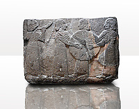 Picture & image of a Neo-Hittite orthostat showing goddess Kubaba  from  the legend of Gilgamesh from Karkamis,, Turkey. Museum of Anatolian Civilisations, Ankara.