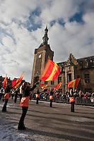 Europe/France/Nord-Pas-de-Calais/59/Nord/Bailleul: Le Carnaval de Bailleul devant le beffroi classé au Patrimoine mondial UNESCO