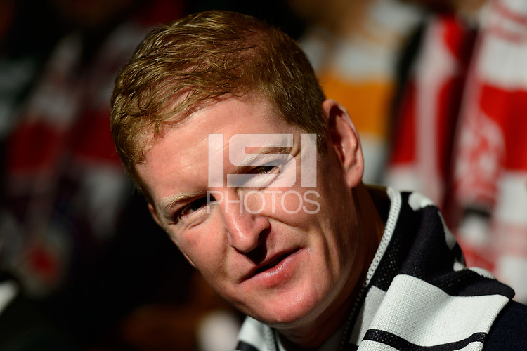 Philadelphia, PA - Friday January 19, 2018: Jim Curtin during the 2018 MLS SuperDraft at the Pennsylvania Convention Center.