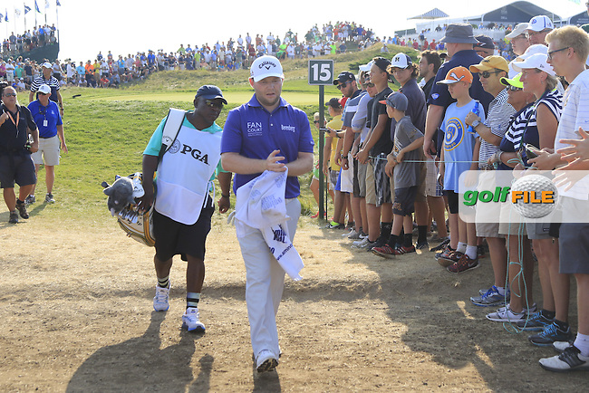 Branden GRACE (RSA) walks off the 15th green during Sunday's Final Round of the 97th US PGA Championship 2015 held at Whistling Straits, Mosel, Kohler, Wisconsin, United States of America. 16/08/2015.<br /> Picture Eoin Clarke, www.golffile.ie