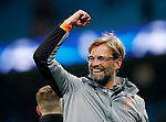 Liverpool's Jurgen Klopp celebrates at the final whistle during the Champions League Quarter Final 2nd Leg match at the Etihad Stadium, Manchester. Picture date: 10th April 2018. Picture credit should read: David Klein/Sportimage