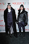 Malan Breton (left) arrives at Heidi Klum's 18th Annual Halloween Party presented by Party City and SVEDKA Vodka at Magic Hour Rooftop Bar & Lounge at Moxy Times Square, on October 31, 2017.