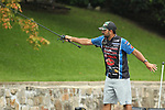 August 10, 2019: Nick Lebrun on day two of the Forrest Wood Cup on Lake Hamilton in Hot Springs, Arkansas. ©Justin Manning/Eclipse Sportswire/CSM