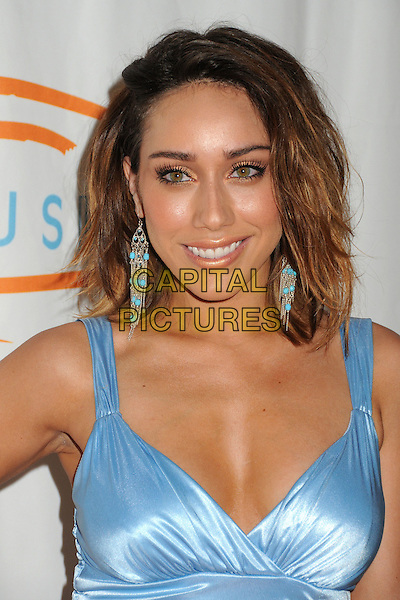 Korrina Rico.12th Annual Lupus LA Orange Ball held at the Beverly Wilshire Hotel, Beverly Hills, California, USA..May 24th, 2012.headshot portrait blue cleavage earrings.CAP/ADM/BP.©Byron Purvis/AdMedia/Capital Pictures.