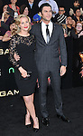 Wes Bentley and date at premiere for The Hunger Games held at the Nokia Theatre L.A. Live Los Angeles, CA. March 12, 2012