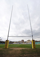 A view of the goalposts at the Recreation Ground. Aviva Premiership match, between Bath Rugby and London Welsh on March 30, 2013 at the Recreation Ground in Bath, England. Photo by: Patrick Khachfe / Onside Images