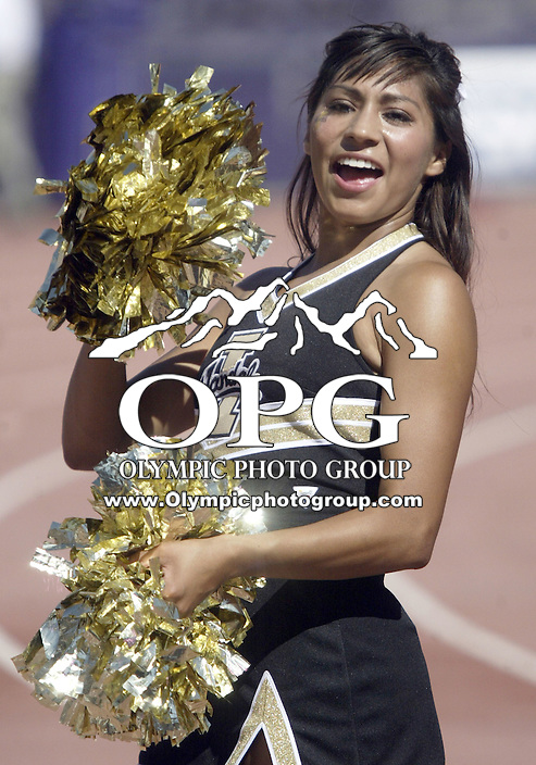 Sep 12, 2009:  Idaho cheerleaders pump their fans up during the game against Washington.  Washington defeated the Idaho Vandals 42-23 at Husky Stadium in Seattle, Washington..