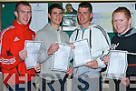 VERY HAPPY: The students of CBS the Green very happy with their Leaving Cert results on Wednesday l-r: Paul Barrett, Clogherbrien, Colm O'Mahony, Castlegregory, Barry Shannhan, Caherslee and Thomas Moore, The Spa.   Copyright Kerry's Eye 2008