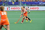 The Hague, Netherlands, June 09: During the field hockey group match (Women - Group A) between The Netherlands and Korea on June 9, 2014 during the World Cup 2014 at Kyocera Stadium in The Hague, Netherlands. Final score 3-0 (1-0)  (Photo by Dirk Markgraf / www.265-images.com) *** Local caption *** Margot van Geffen #30 of The Netherlands