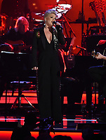 LOS ANGELES, CA - FEBRUARY 8: P!NK performs on the 2019 MusiCares Person of the Year Tribute Honoring Dolly Parton at the Los Angeles Convention Center on February 8, 2019 in Los Angeles, California. (Photo by Frank Micelotta/PictureGroup)