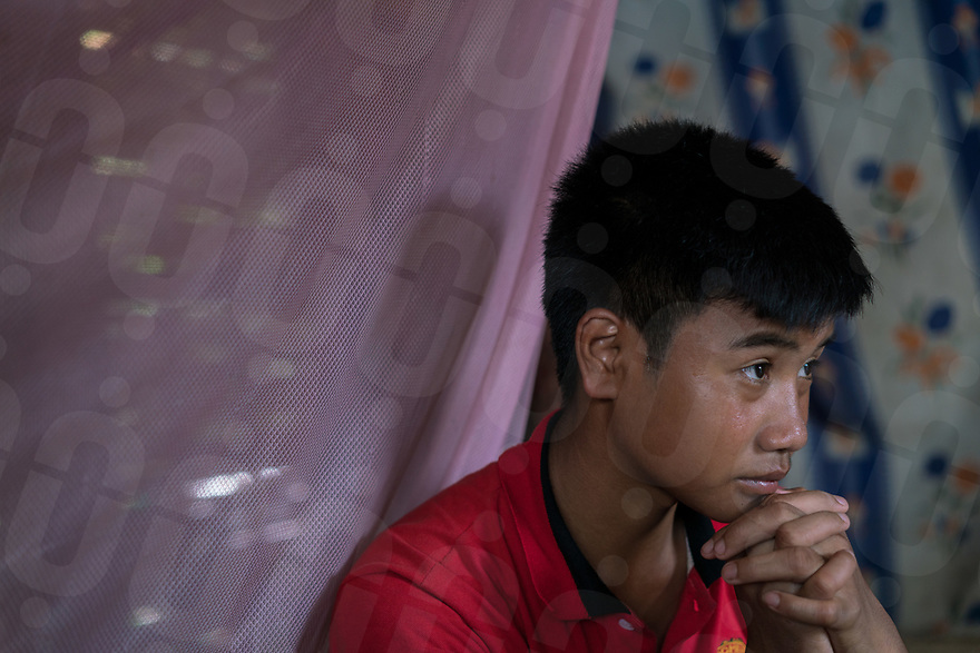 May 9, 2017 - Luang Prabang (Laos). Luu (15) during an interview in his house. © Thomas Cristofoletti / Ruom