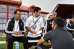 11 January 2015: FC Dallas head coach Oscar Pareja (left) with his staff. The 2015 MLS Player Combine was held on the cricket oval at Central Broward Regional Park in Lauderhill, Florida.